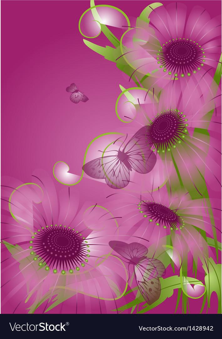 Unusual purple flowers vector | Price: 1 Credit (USD $1)