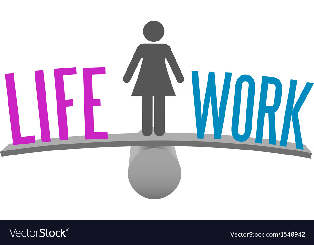 Woman balance life work decision choice vector | Price: 1 Credit (USD $1)