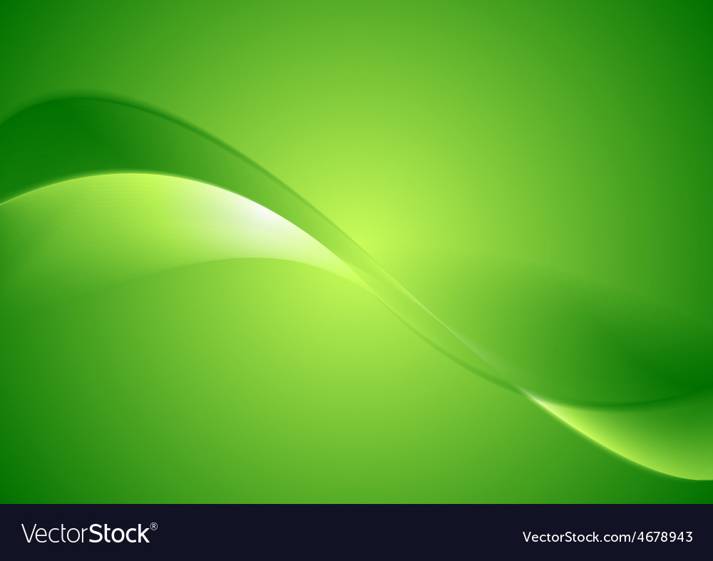 Abstract green smooth waves background vector   Price: 1 Credit (USD $1)