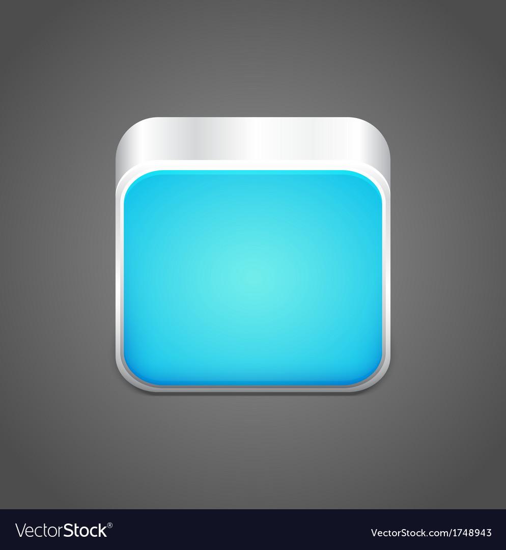 Blank blue app icon vector | Price: 1 Credit (USD $1)