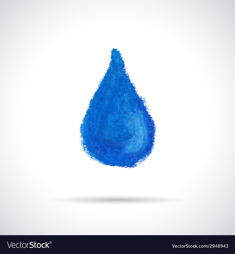 Blue water drop icon vector | Price: 1 Credit (USD $1)