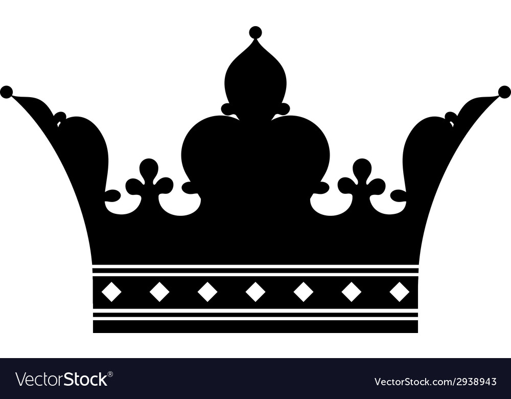 Crown silhouette vector | Price: 1 Credit (USD $1)