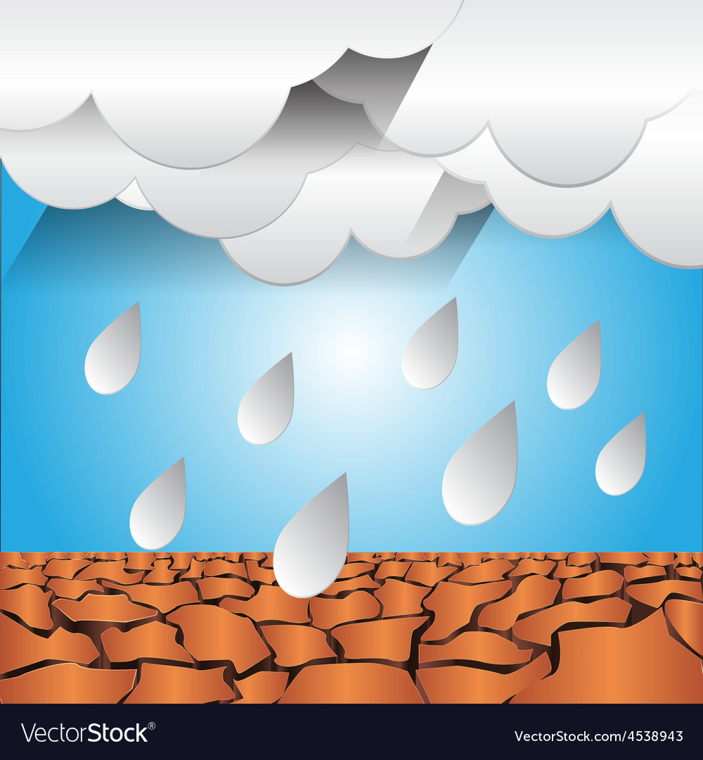 Dry ground and rain graphic vector | Price: 1 Credit (USD $1)