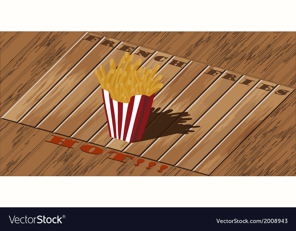 French fries vector   Price: 1 Credit (USD $1)