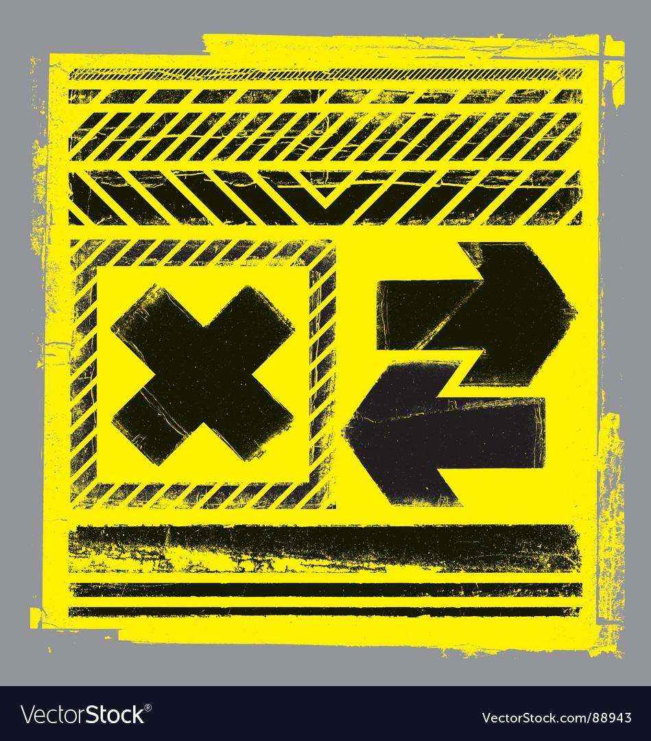 Hazard elements vector | Price: 1 Credit (USD $1)