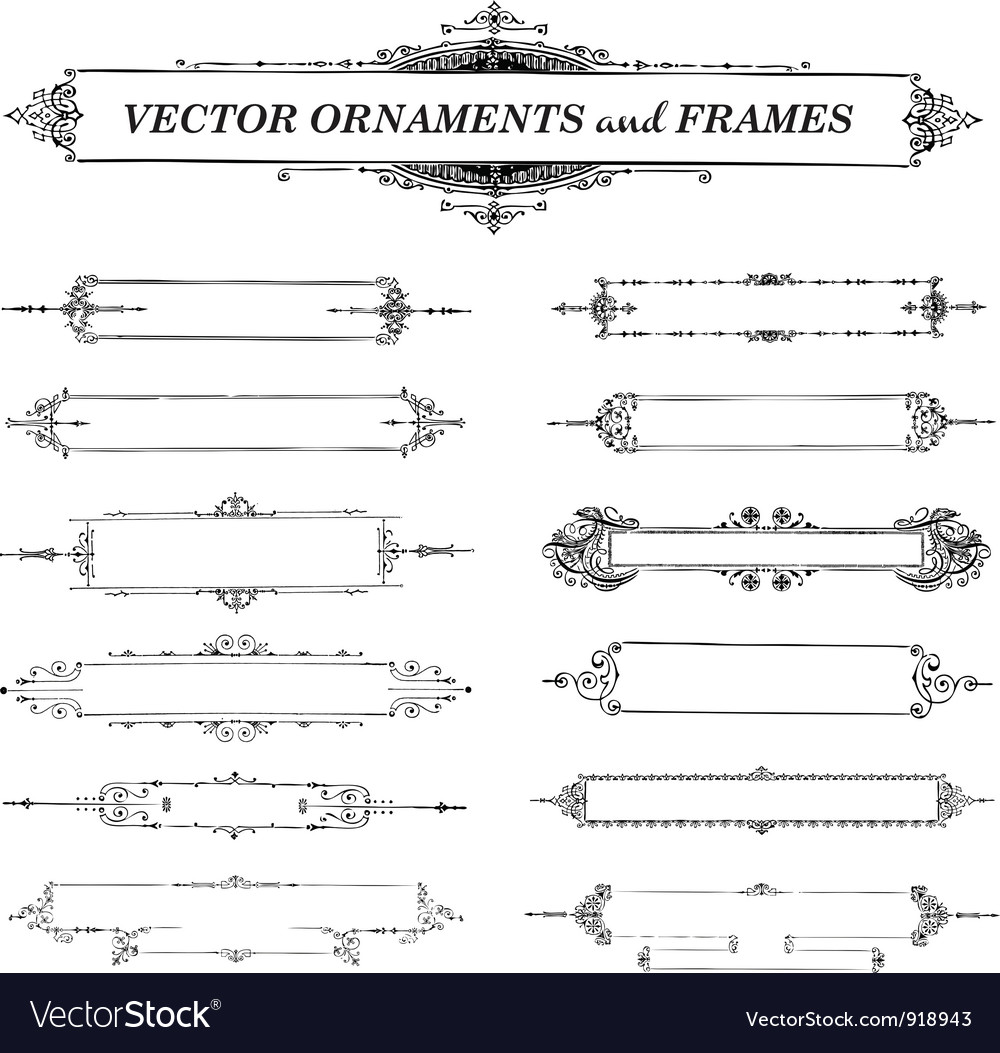 Ornaments and frames vector | Price: 1 Credit (USD $1)