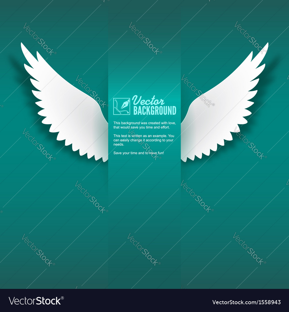 Paper wings vector | Price: 1 Credit (USD $1)
