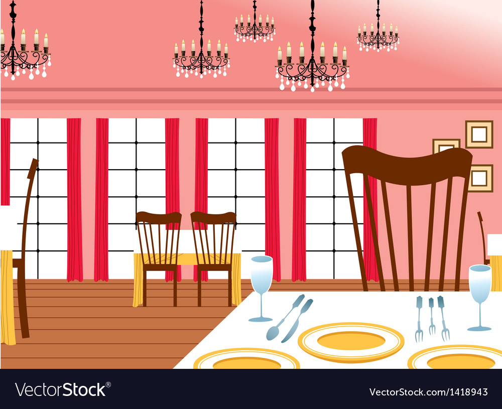 Restaurant interior vector | Price: 1 Credit (USD $1)