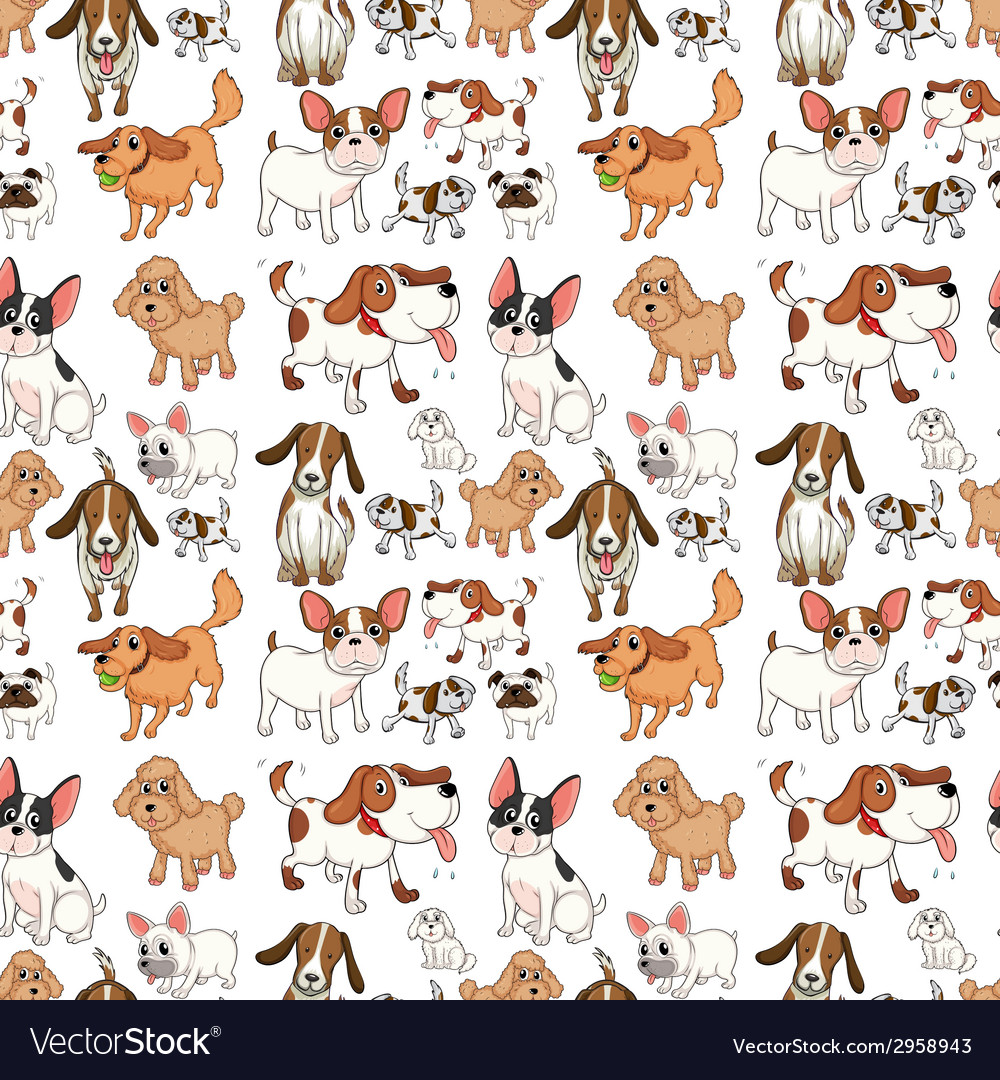 Seamless dogs vector | Price: 1 Credit (USD $1)