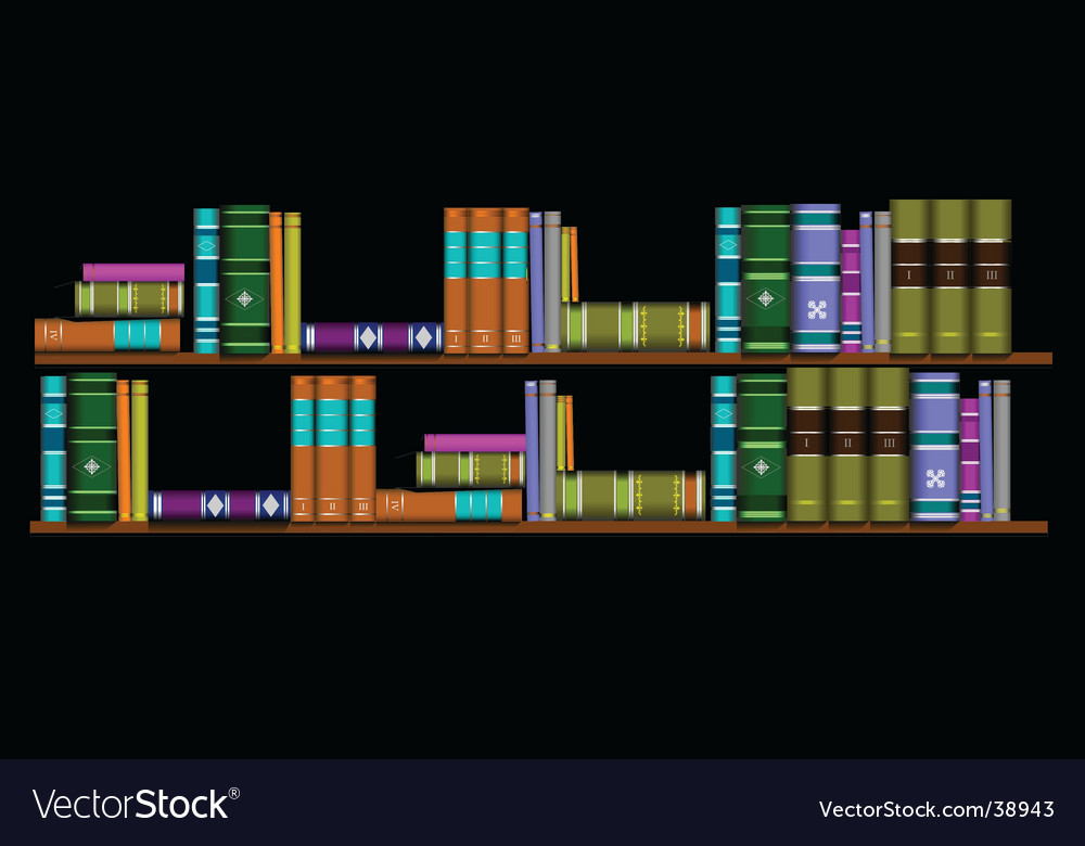 Two bookshelves vector | Price: 1 Credit (USD $1)