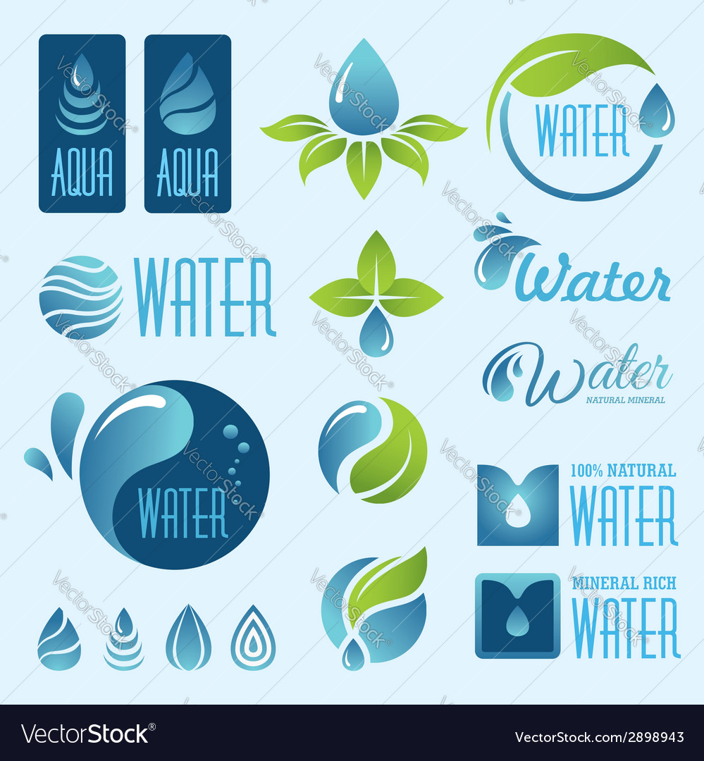 Water set1 vector | Price: 1 Credit (USD $1)