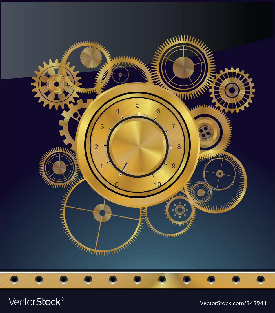 Abstract gear background vector | Price: 1 Credit (USD $1)