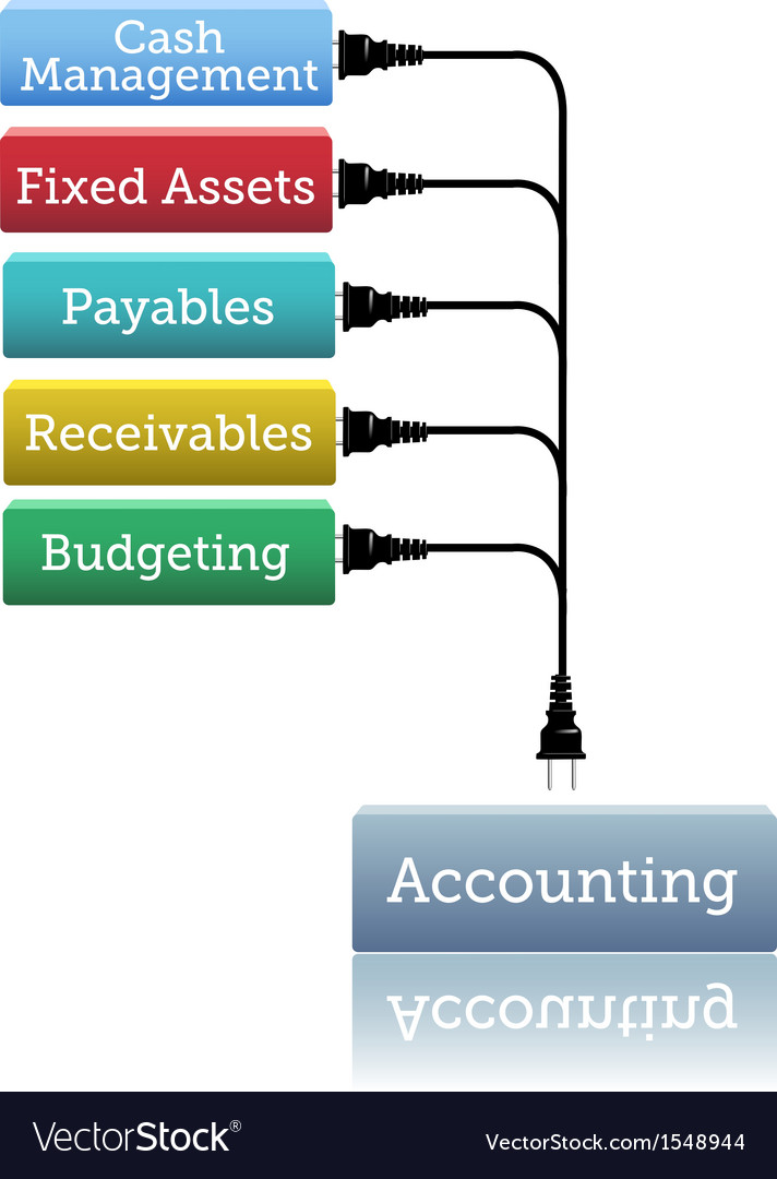 Accounting financial books plug in vector | Price: 1 Credit (USD $1)