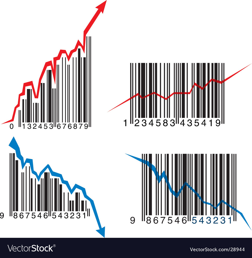Barcode graphs vector | Price: 1 Credit (USD $1)