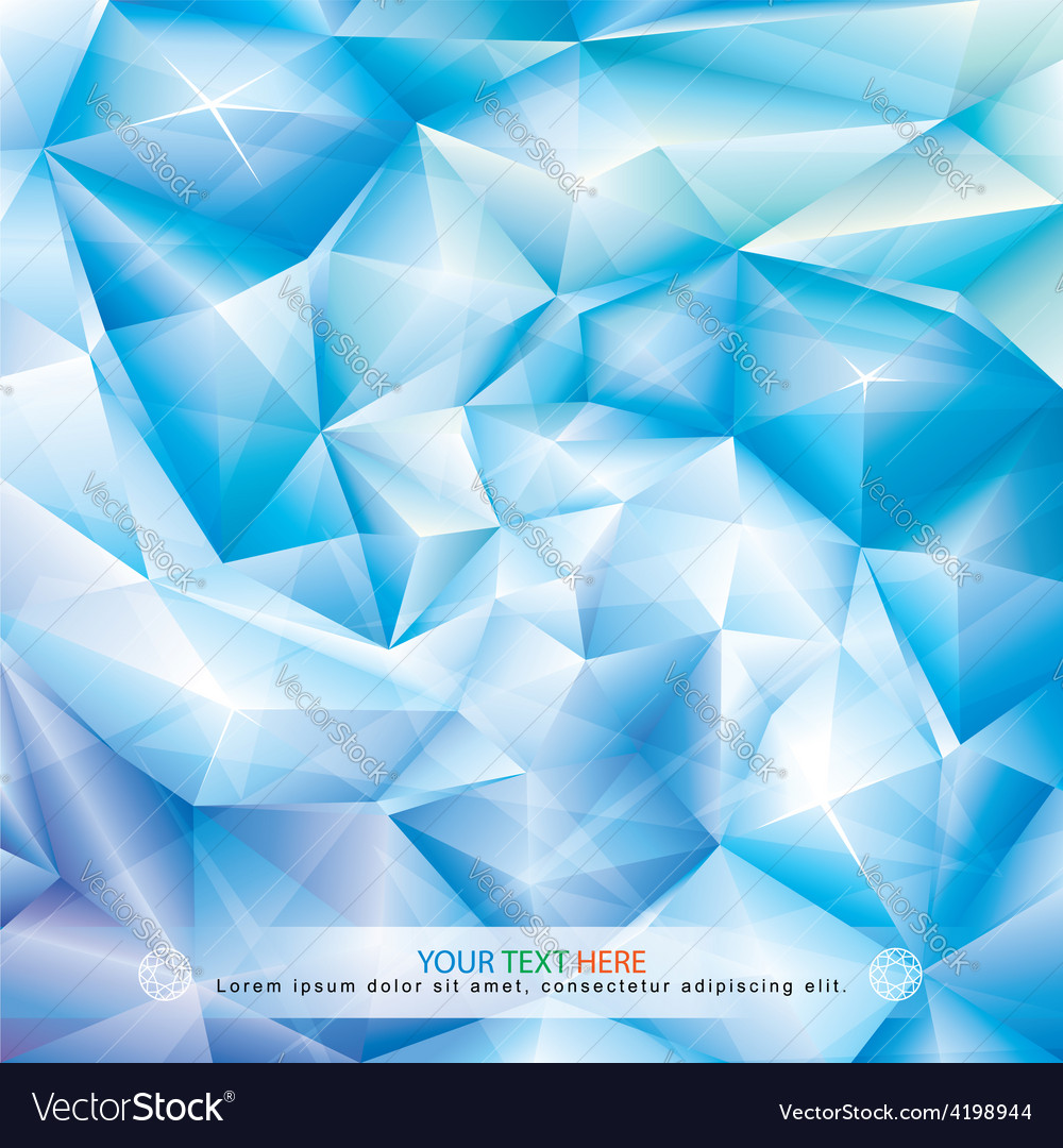 Blue crystal background vector | Price: 1 Credit (USD $1)