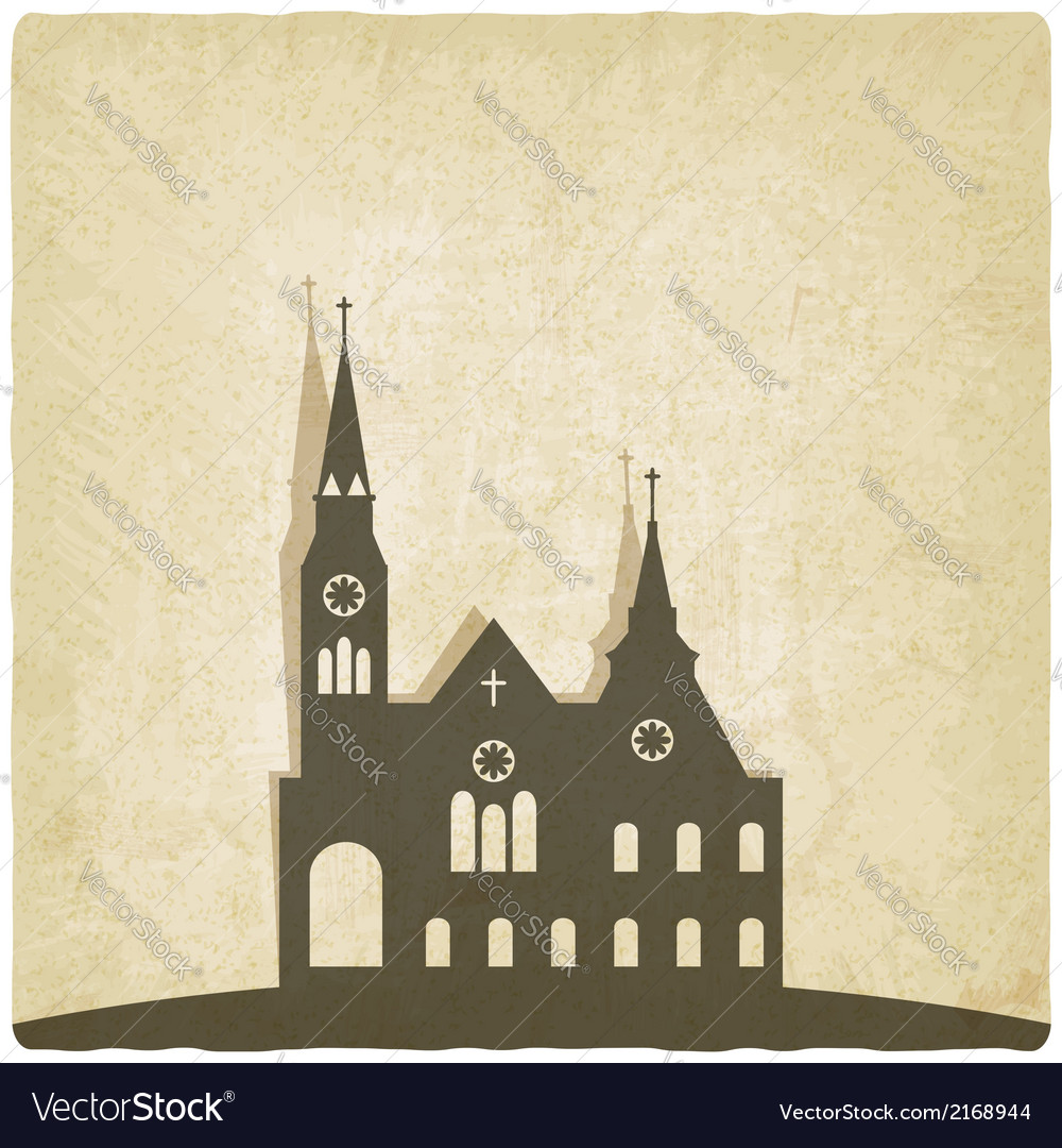 Catholic church old background vector | Price: 1 Credit (USD $1)