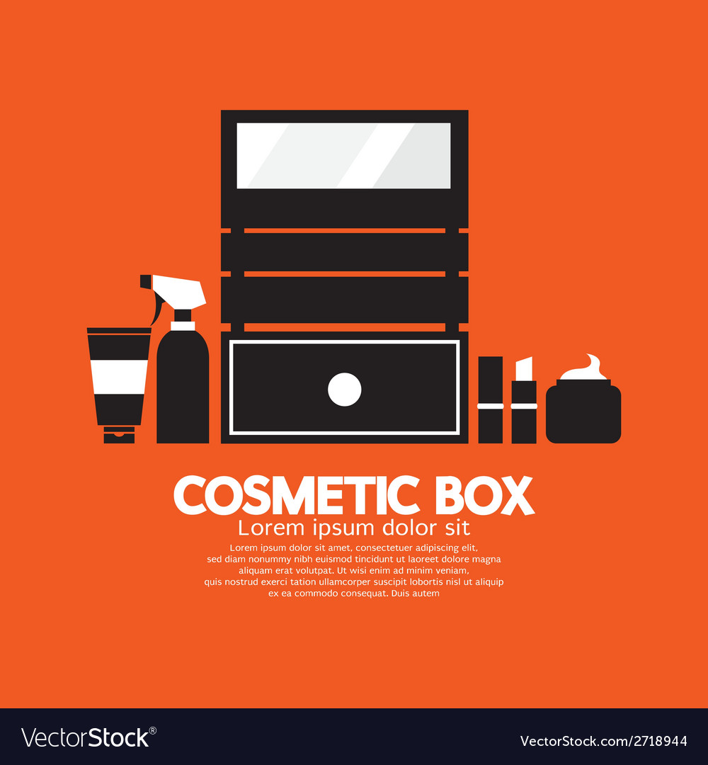 Cosmetic box vector | Price: 1 Credit (USD $1)