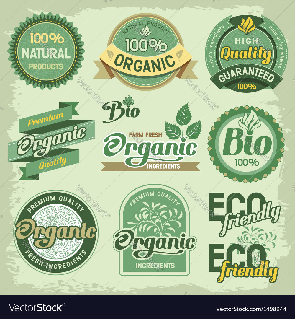 Eco label vector | Price: 3 Credit (USD $3)