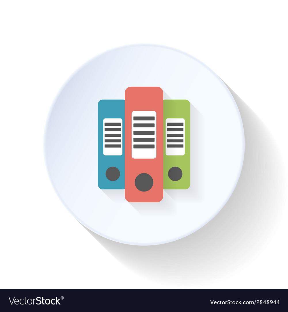 Folders flat icon vector | Price: 1 Credit (USD $1)