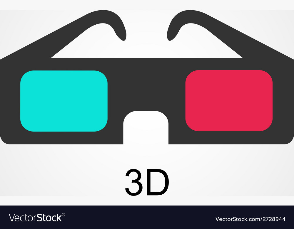 Modern 3d cinema glasses flat design vector | Price: 1 Credit (USD $1)