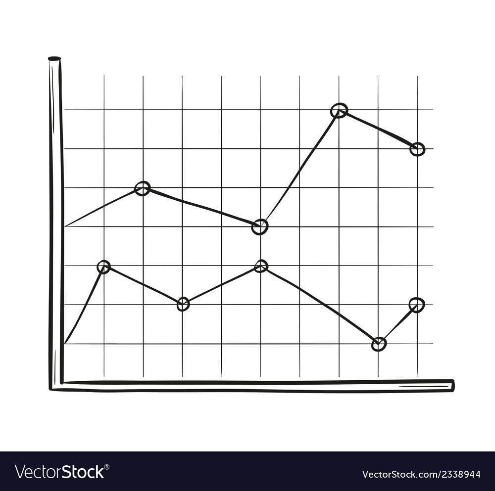 Sketch of the line chart vector | Price: 1 Credit (USD $1)