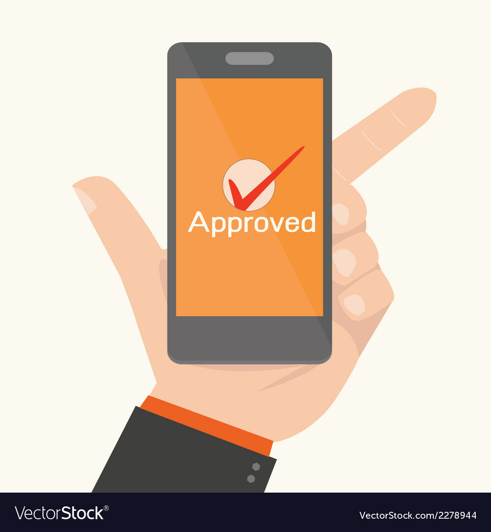 Smartphone showing approvalonline payments concept vector | Price: 1 Credit (USD $1)