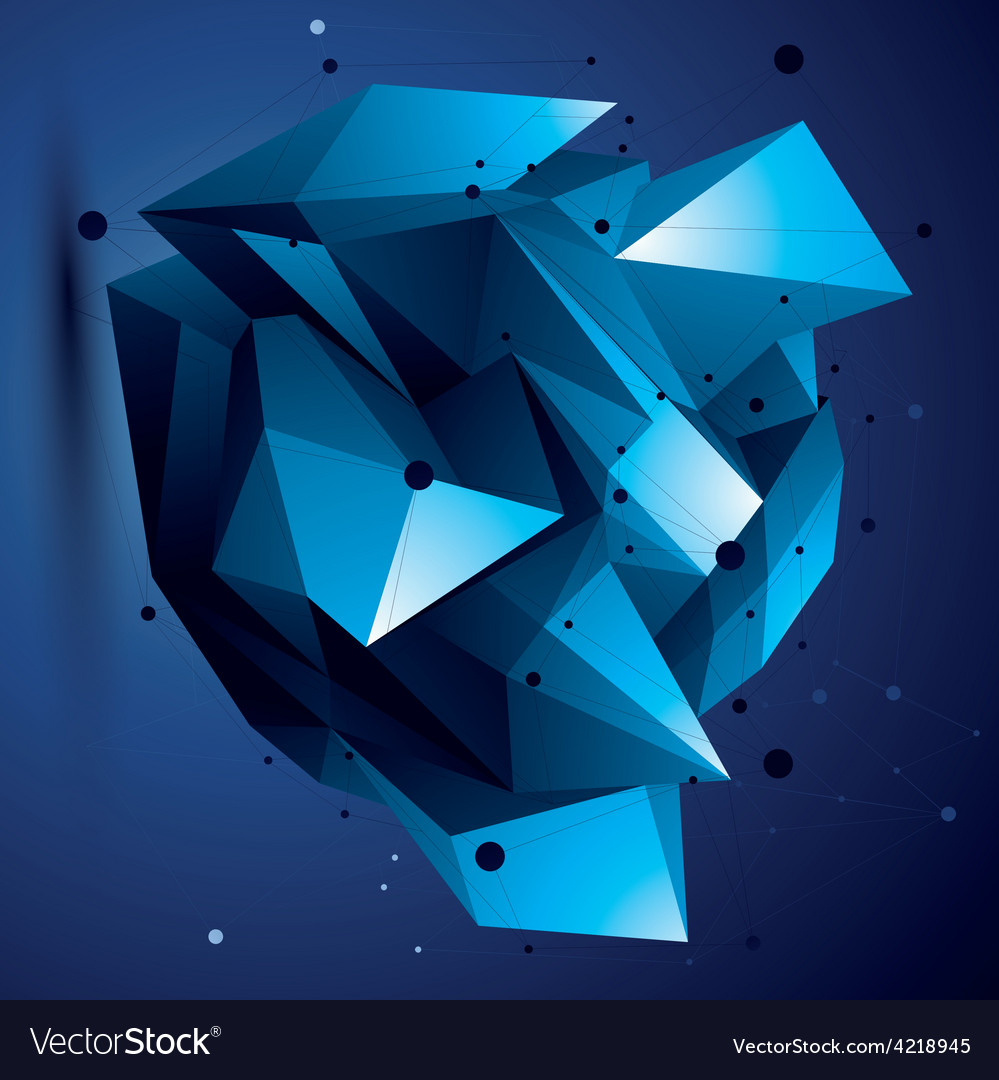 Abstract 3d structure polygonal network object vector | Price: 1 Credit (USD $1)