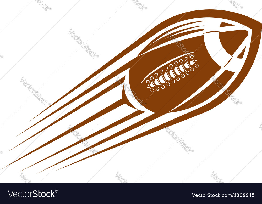 American football or rugby ball flying through the vector | Price: 1 Credit (USD $1)