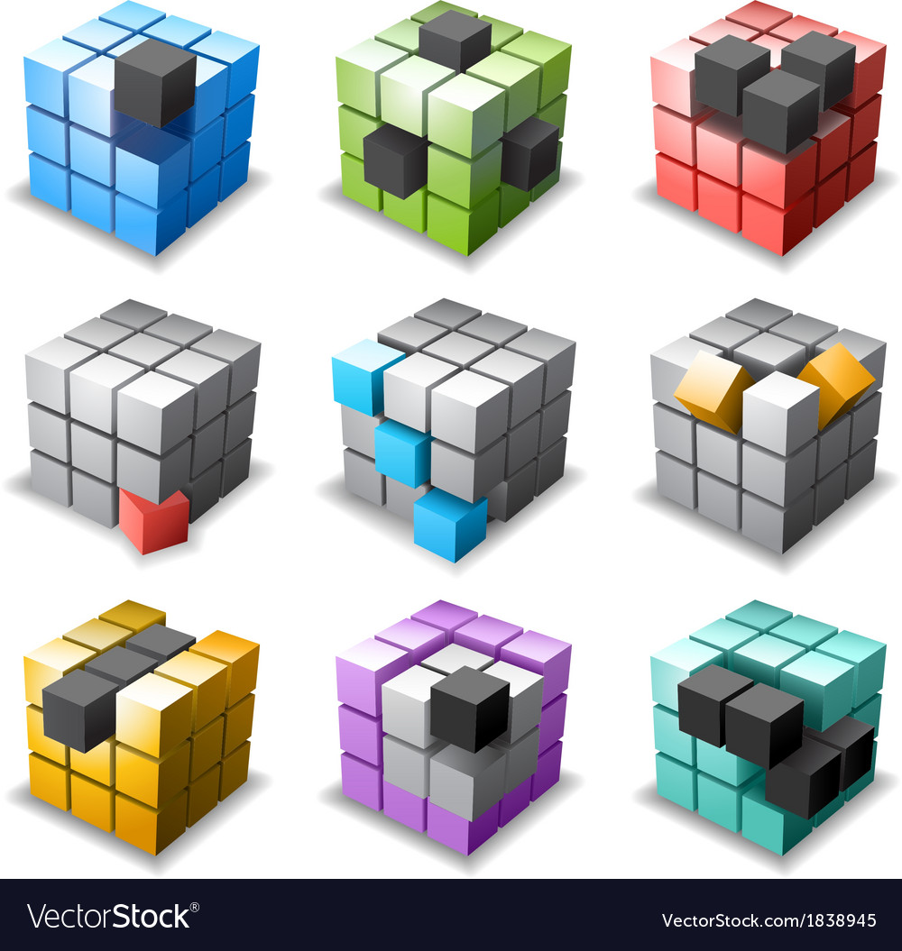 Cube vector | Price: 1 Credit (USD $1)