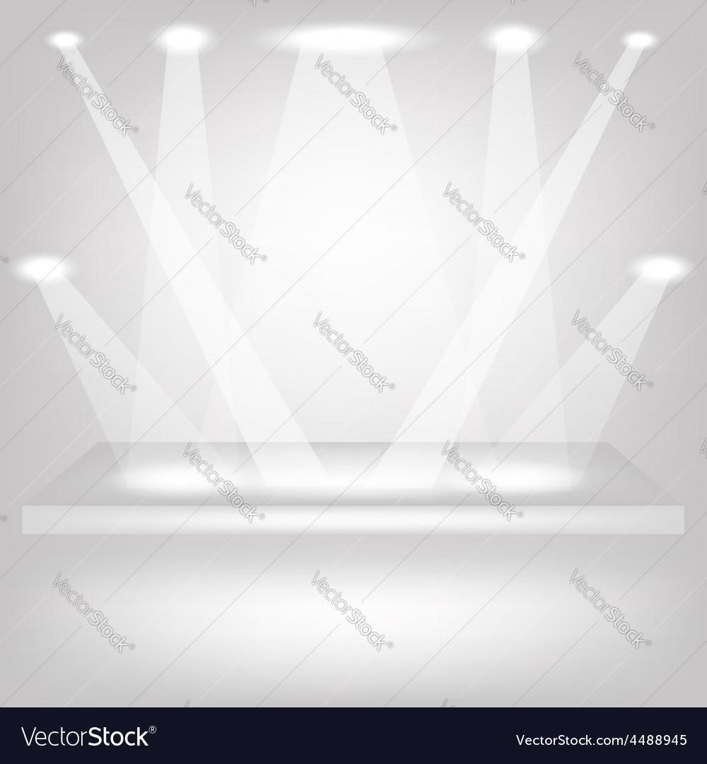 Empty shelf vector | Price: 1 Credit (USD $1)