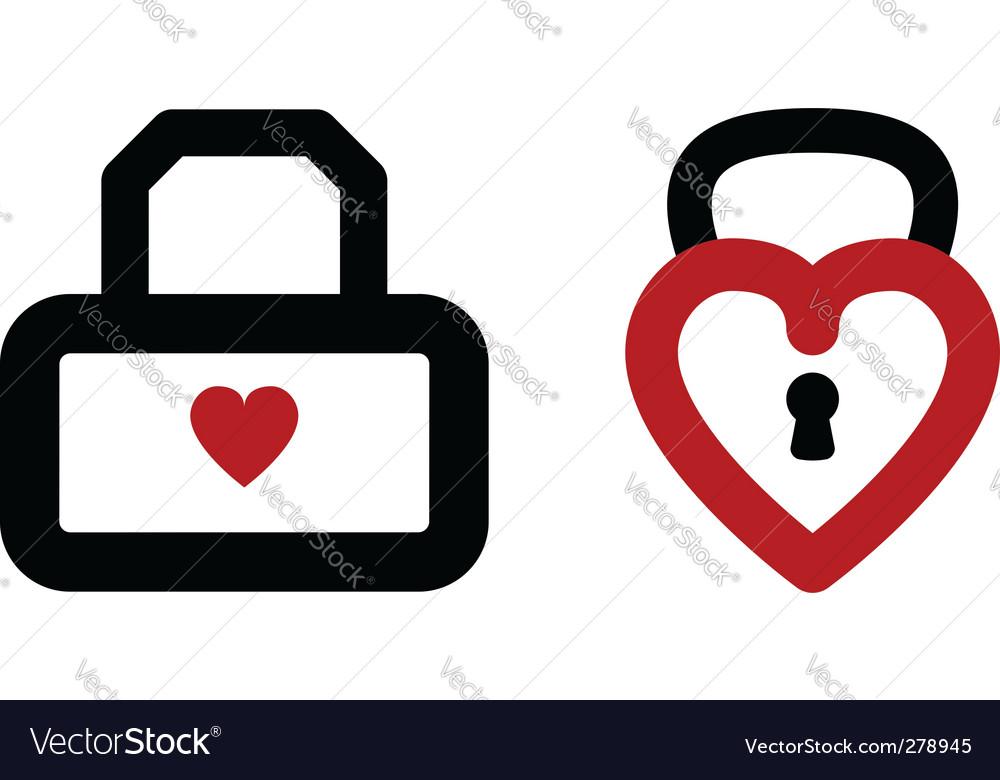 Heart lock vector | Price: 1 Credit (USD $1)