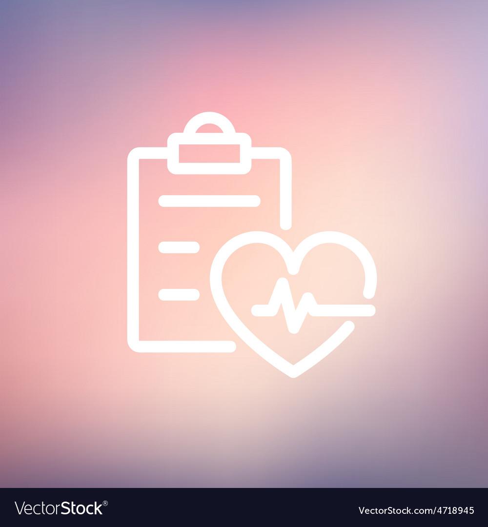 Heartbeat record thin line icon vector | Price: 1 Credit (USD $1)