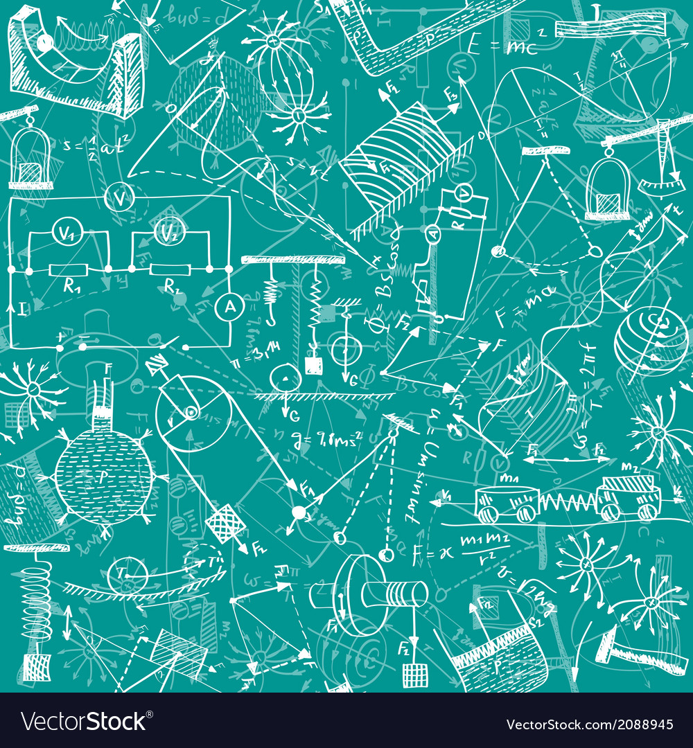 Physics seamless pattern vector