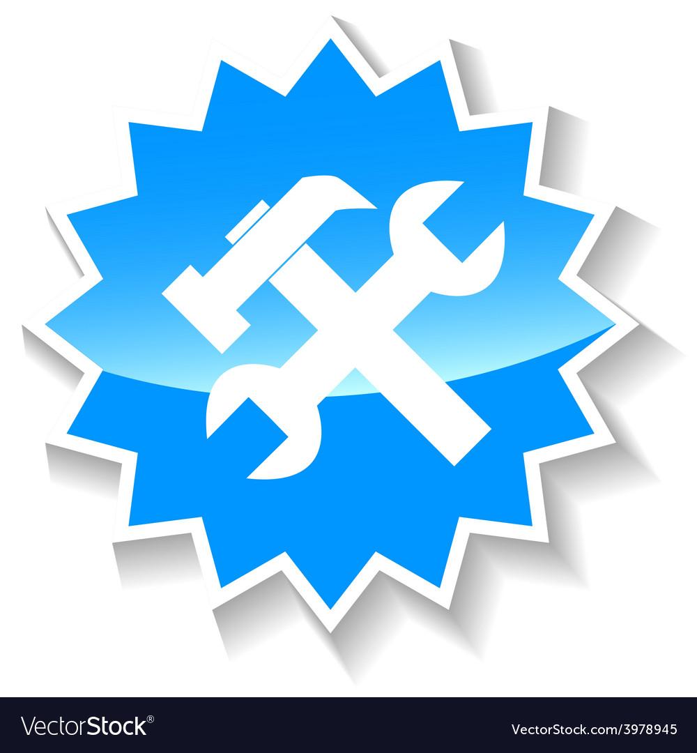 Repair blue icon vector | Price: 1 Credit (USD $1)