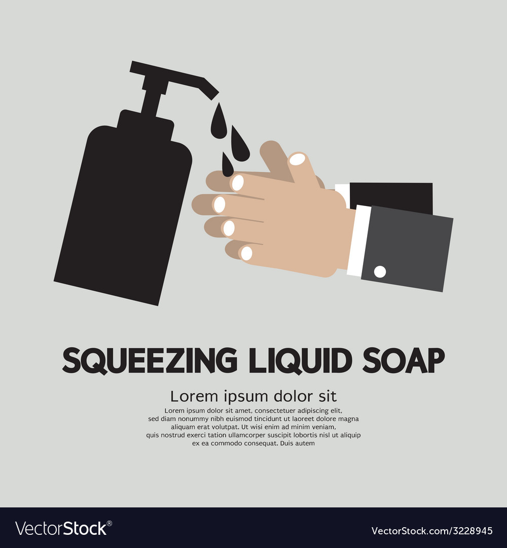 Squeezing liquid soap vector | Price: 1 Credit (USD $1)