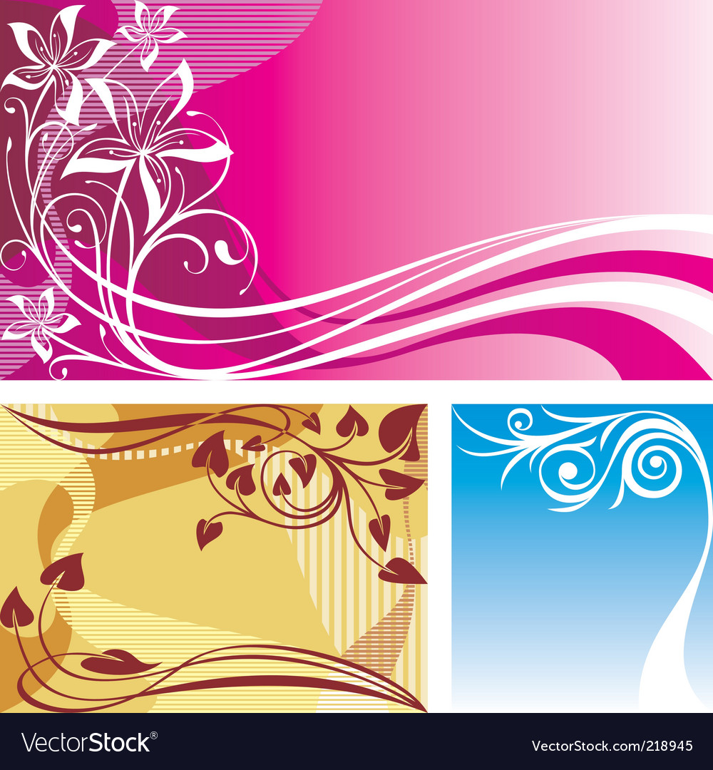 Three backgrounds vector | Price: 1 Credit (USD $1)