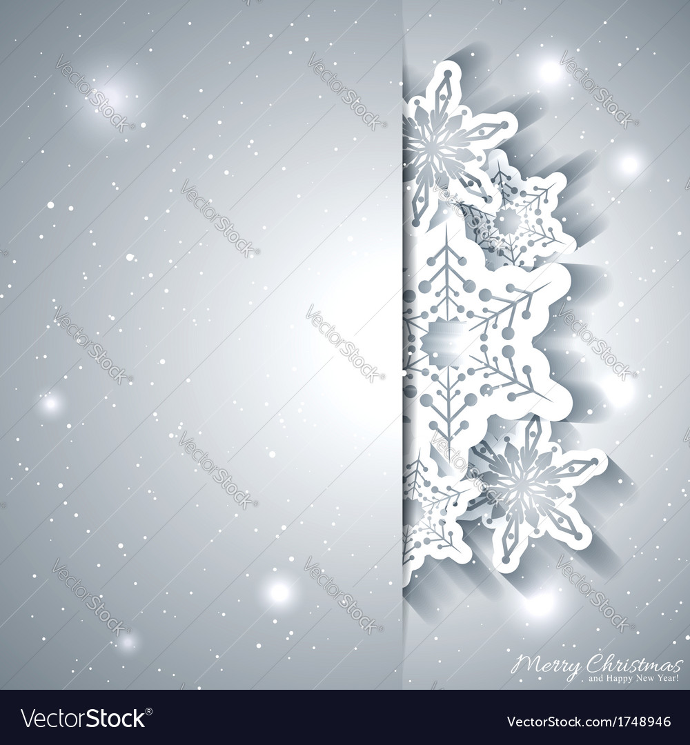 Christmas snowflake greeting card vector | Price: 1 Credit (USD $1)
