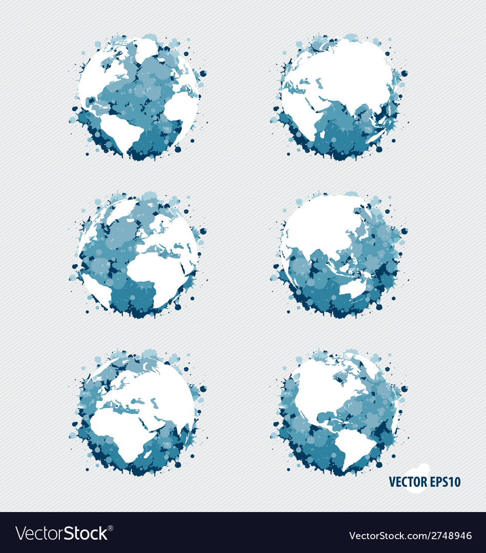 Collection of modern globe vector   Price: 1 Credit (USD $1)
