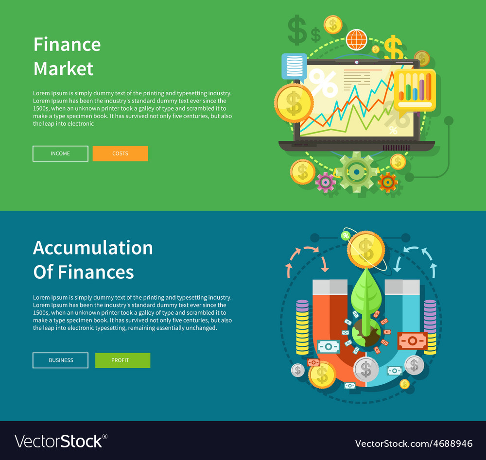 Finance market and accumulation of finances vector | Price: 1 Credit (USD $1)