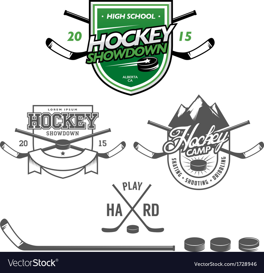 Ice hockey labels badges and design elements vector | Price: 1 Credit (USD $1)