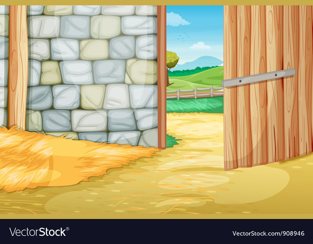 Inside the barn vector | Price: 3 Credit (USD $3)