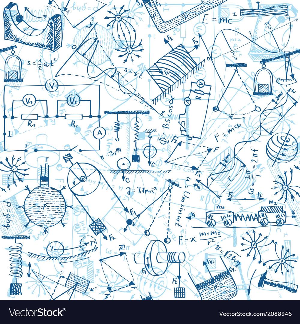 Physics seamless pattern vector | Price: 1 Credit (USD $1)
