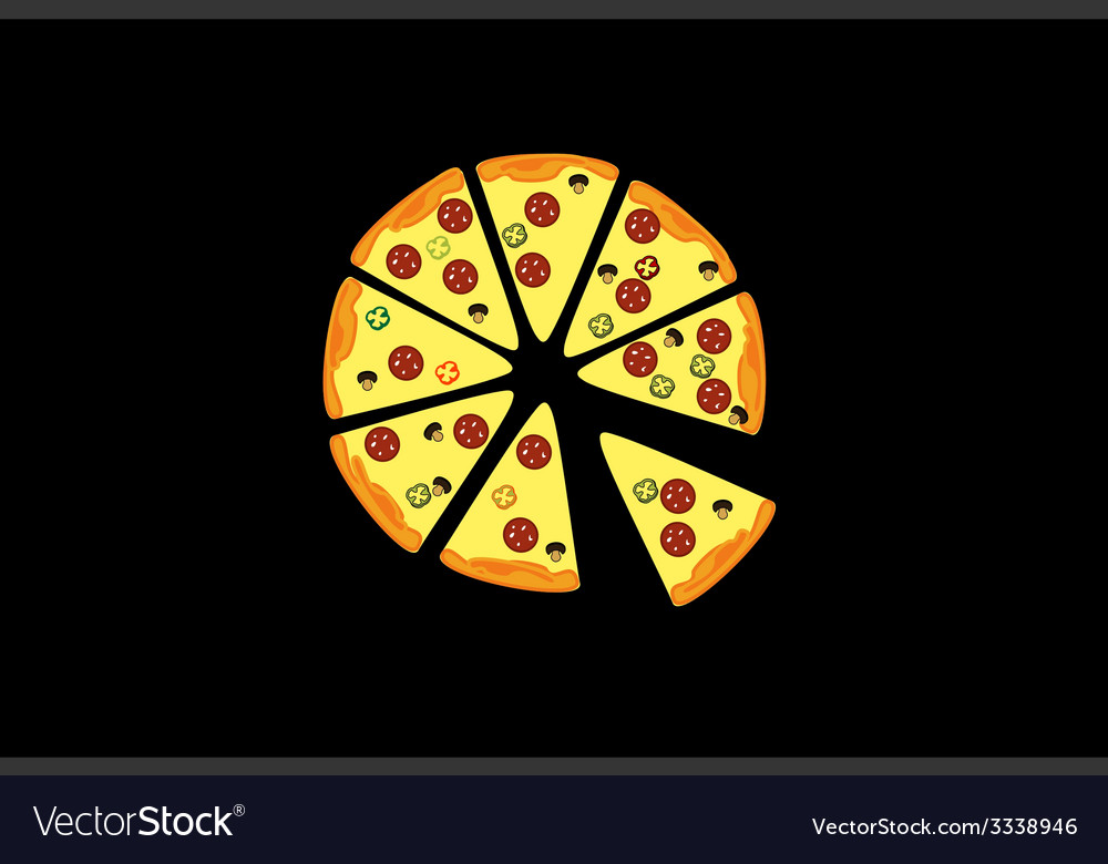 Pieces of pizza vector | Price: 1 Credit (USD $1)