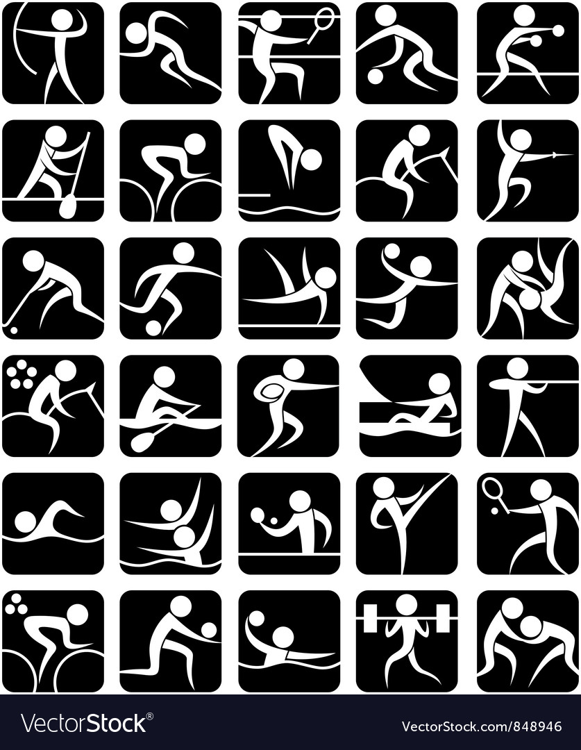 Summer sports symbols vector | Price: 1 Credit (USD $1)
