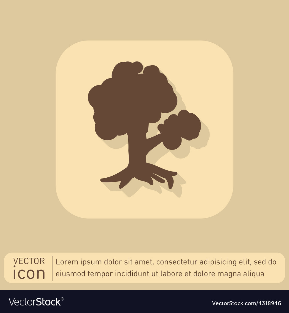 Tree symbol icon nature sign vector | Price: 1 Credit (USD $1)