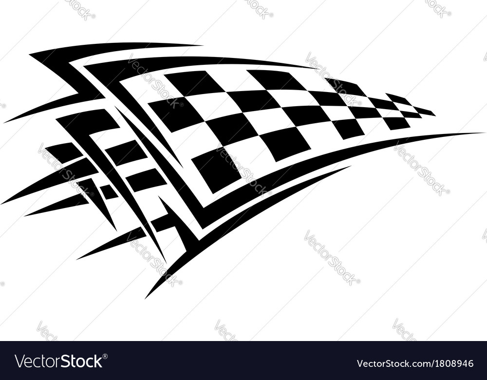 Tribal sport racing tattoo vector | Price: 1 Credit (USD $1)