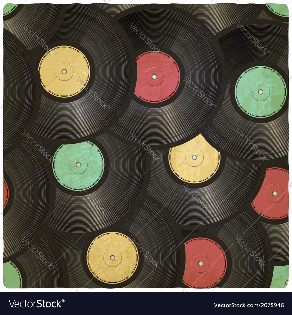 Vinyl record old background vector | Price: 1 Credit (USD $1)