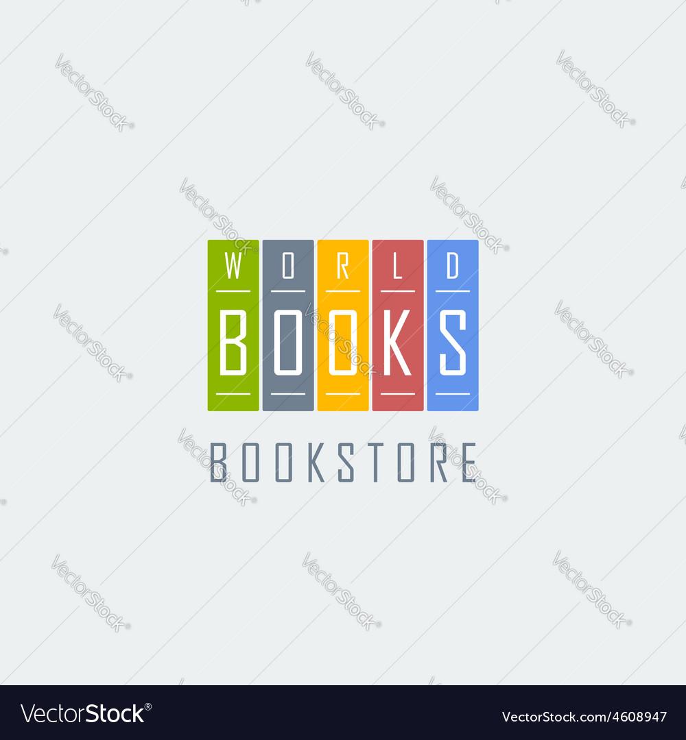 Bookstore logo template vector | Price: 1 Credit (USD $1)