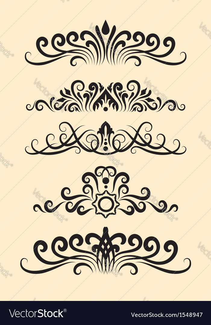 Floral ornament decorations vector | Price: 1 Credit (USD $1)