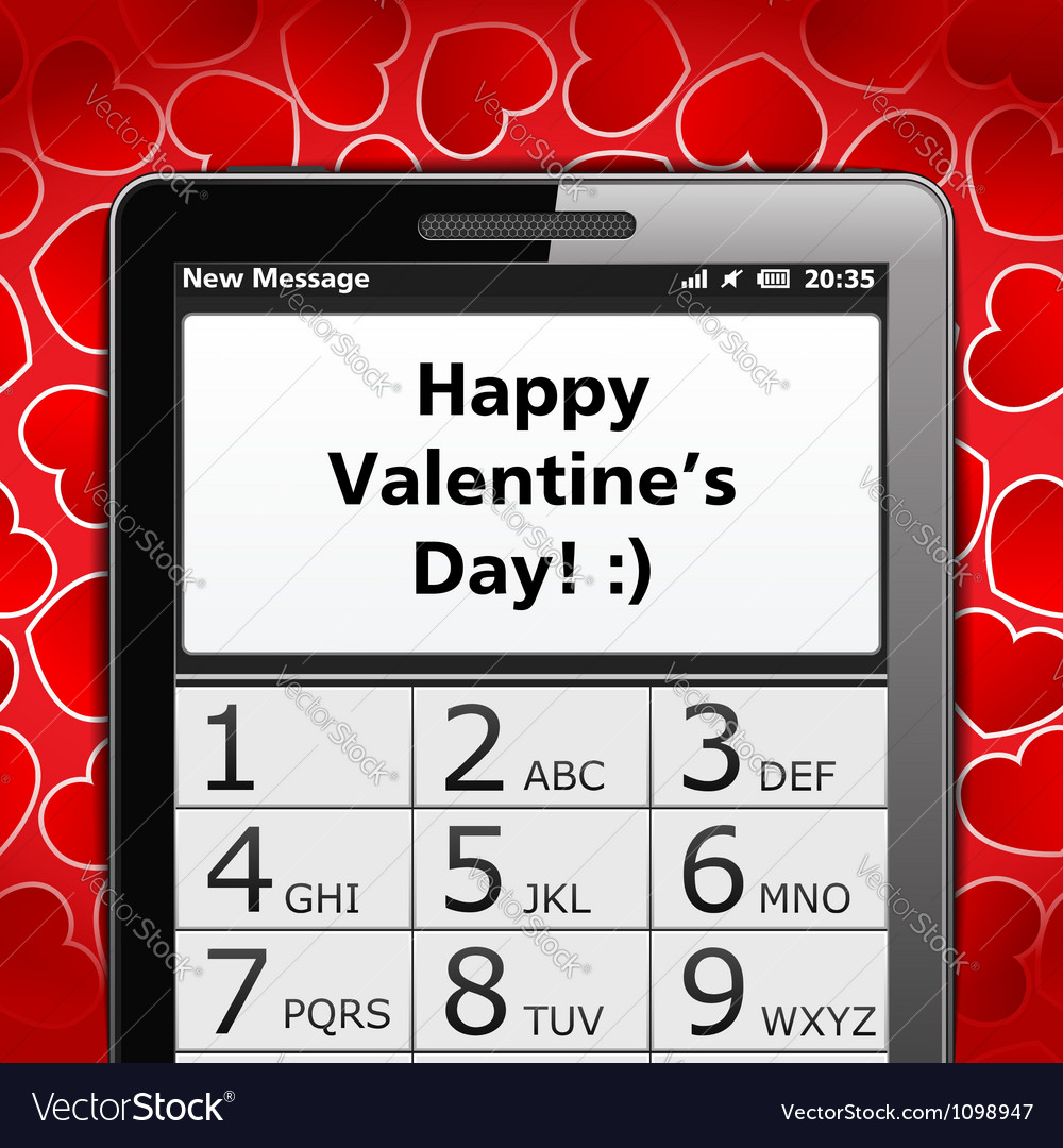 Happy valentines day sms vector | Price: 1 Credit (USD $1)